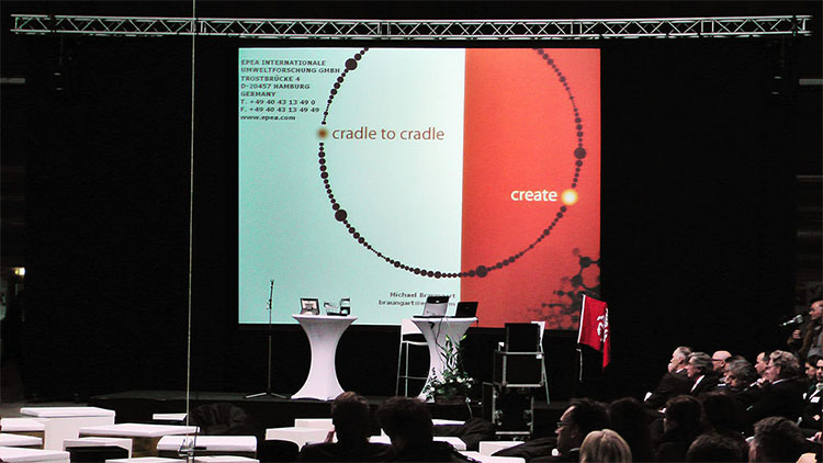 Beamer Verhuurd tijdens een presentatie op de luchthaven Twente - Enschede