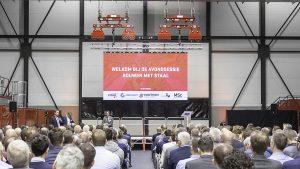 indoor led videoscherm tijdens presentatie in overijssel