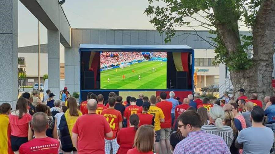 modulair outdoor led scherm belgië wk voetbal