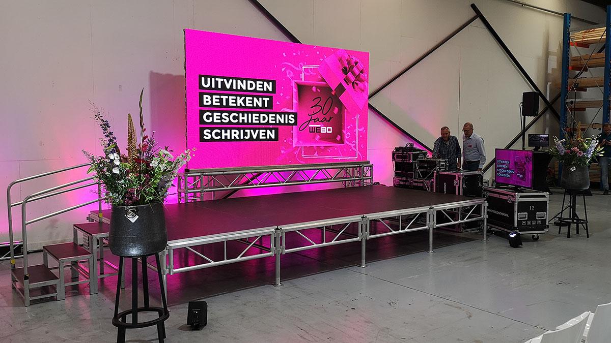 modulair podium, licht, geluid en led scherm in rijssen, overijssel, twente