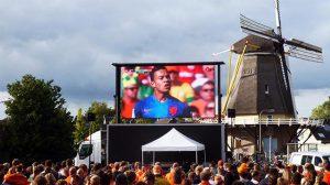 Groot scherm huren tijdens het Europees Kampioenschap Voetbal