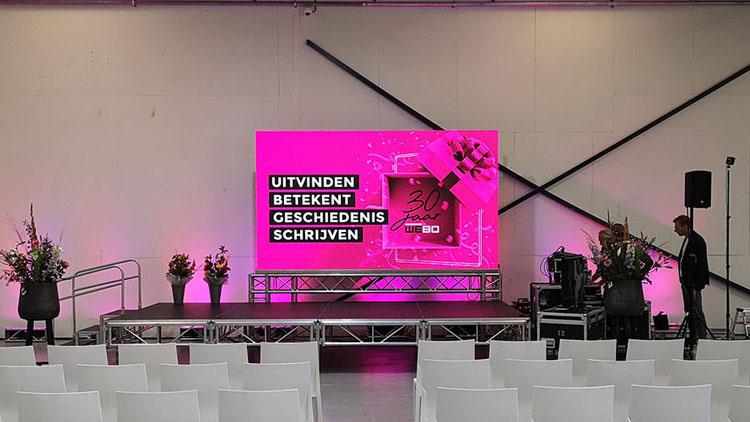 presentatie set tijdens project in rijssen